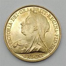 1896 великая британская Золотая монета королевы Виктории рыцаря Владыка медная монета покрытая британской коллекцией