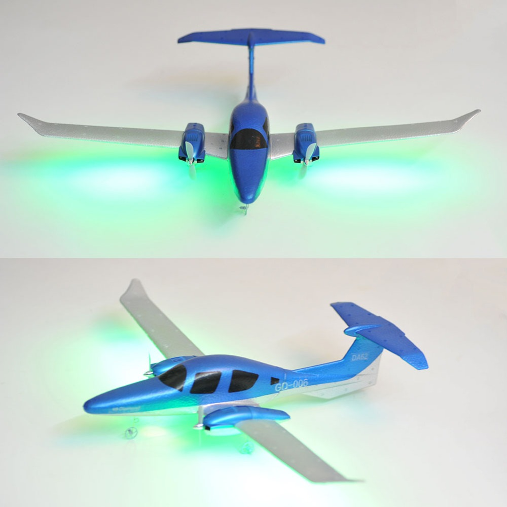 GD-006 EPP 2.4G 2Channel 3-Axis Gyro 548mm Wingspan RC Airplane With Light Bar