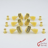 1Set GuitarFamily 3R 3L Vintage Deluxe Guitar Machine Heads Tuners For Gibson USA Gold 1281