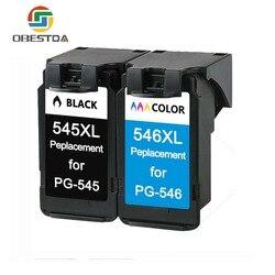 Obestda PG545 CL546 XL wymiana wkładów atramentowych dla Canon PG 545 pg 545 CL 546 dla Canon IP2850 MX495 MG2950 MG2550 MG2450 w Tusze do drukarek od Komputer i biuro na