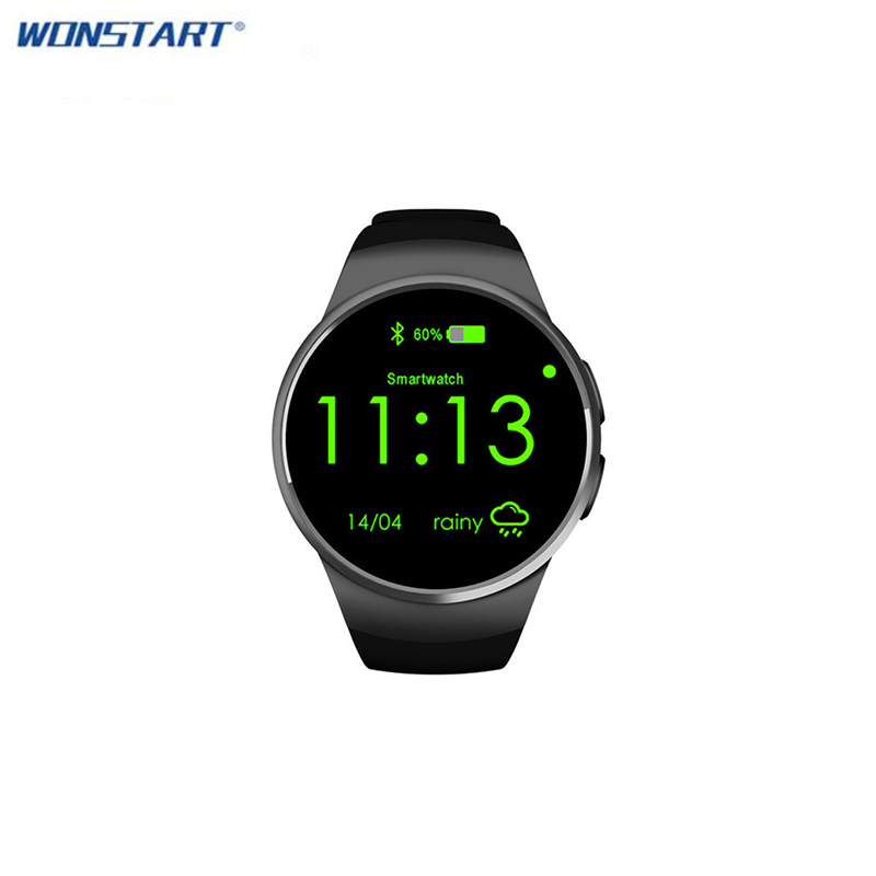 Bluetooth KW18 Smart Watch Connected WristWatch for Android Smartphones Support Sync Call Messager wireless service call bell system popular in restaurant ce passed 433 92mhz full equipment watch pager 1 watch 7 call button