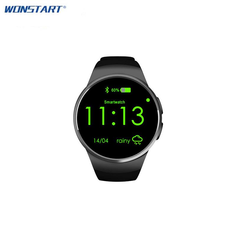 Prix pour Bluetooth kw18 smart watch connecté montre-bracelet pour android smartphones soutien sync appel messager