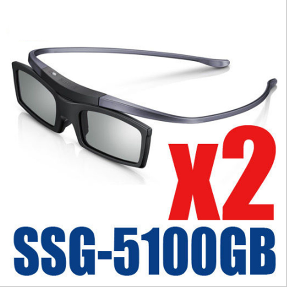 2PC X New Samsung 4K HD UHD SUHD 3D Active TV Glasses SSG-5100GB SSG-5150GB