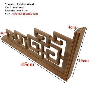 Image 2 - Chinesischen Stil Zu Hause Hochzeit Zubehör Möbel Appliques Holz Carving Ecke Holz Dekor Rahmen Wand Tür Holzschnitzerei Aufkleber