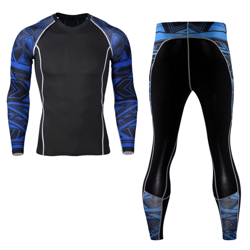 2017 New Fashion Mens Compression Pants 3D Print Quick Dry Skinny Leggings Tights Fitness MMA Pants Stitching Tousers