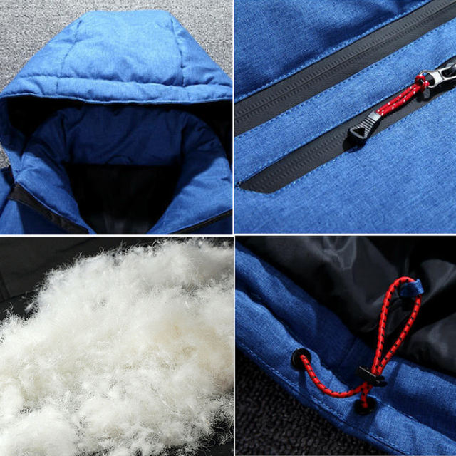 Holyrising 2018 Fashion Brand Winter Men Down jacket Casual Mens Down jacket And Coats Parka casaco masculino inverno 18469-5