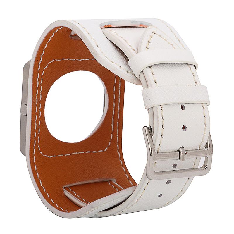 Prix pour FOHUAS peau de Vache Véritable Bracelet En Cuir Croix motif Wartch Band Pour fitbit Blaze Bracelet Y Compris le métal cadre en Emballage de Détail