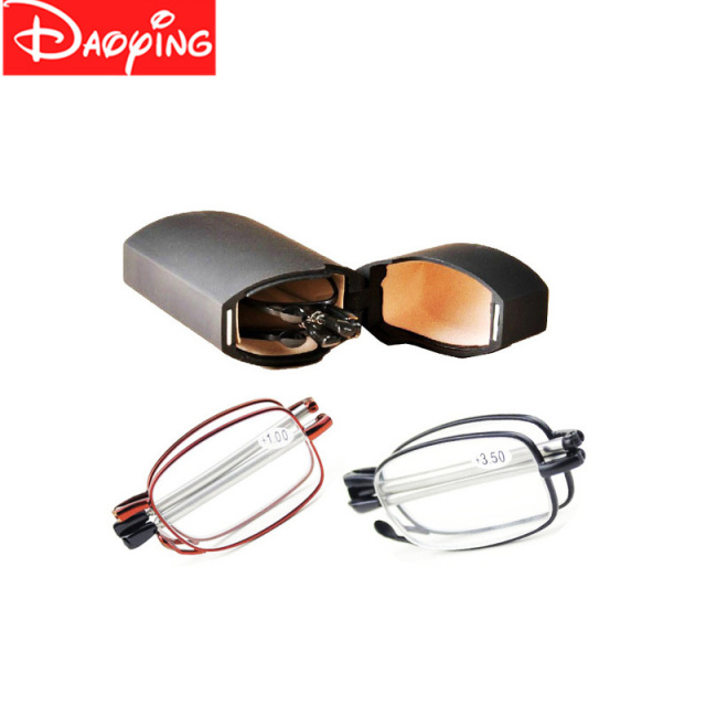 0838c792390f DAOYING High Grade Brand Men Folding Reading Glasses Foldable Pocket  Presbyopia Reader Hyperopia Eyewear+1.00,+1.50,+3.50