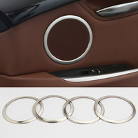 Interior Car Door Speaker Cover Trim 4pcs For BMW 5 Series GT F07 2010 2017