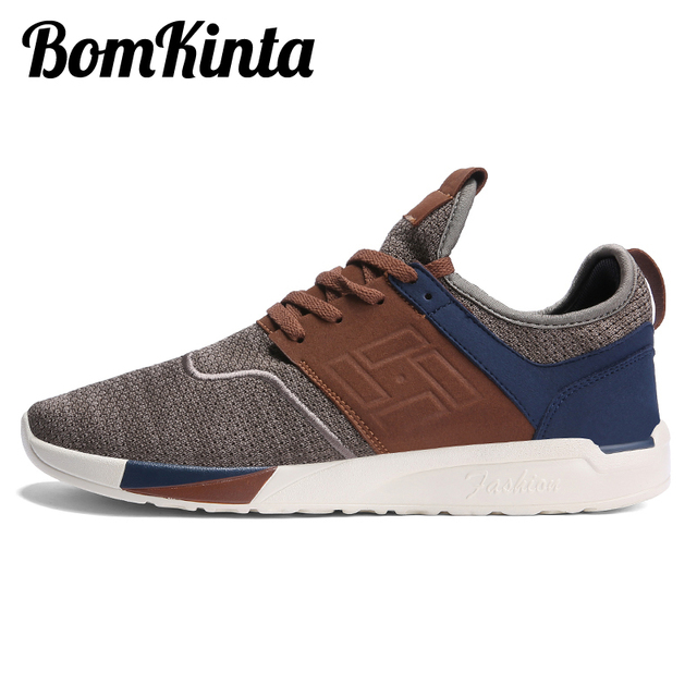 BomKinta Spring Summer Fly Weave Men Casual Shoes Patchwork Breathable Walking  Sneakers Men Shoes Light Mixed Colors Footwear 3427287fbb0f