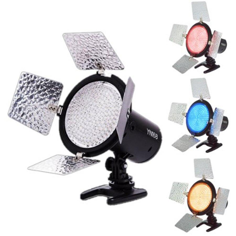 ФОТО Yongnuo YN-168 YN168 Pro LED 5500k Color Temperature Adjustable 168 LEDs Video Light for Canon Nikon