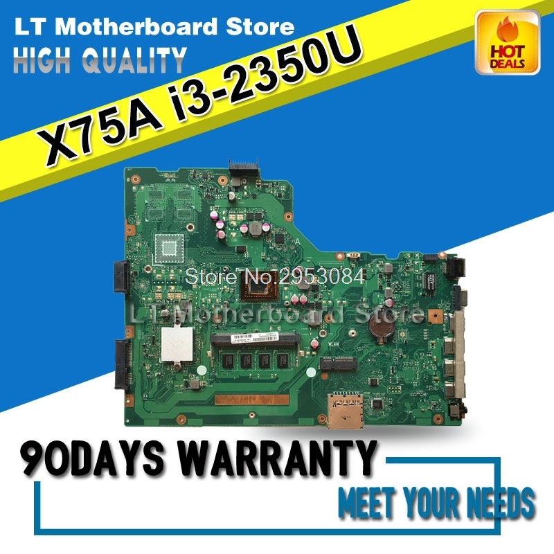 Laptop Motherboard For ASUS X75VC X75VB X75V X75A X75VD I3-2370-4G System Board Main Board Mainboard Card Logic Board Tested original for asus x75vd motherboard x75vd rev3 1 mainboard processor i3 2350 gt610 1g ram 4g memory on board 100% test