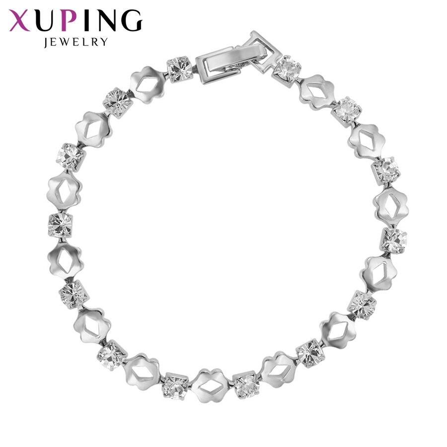 11,11 сделок Xuping Мода элегантный браслет ювелирных изделий с горный хрусталь экологические Медь для Для женщин Рождество подарок S80-75051