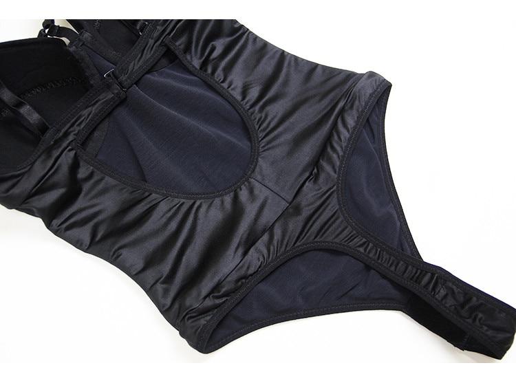 Sexy Plunge Push Up Bra Bodysuit Body Shaper Hot Lingerie Teddy Women Shapewear Thong Bodysuit Underwear Corset in Bodysuits from Underwear Sleepwears