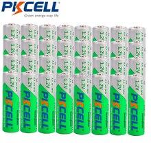 Baterias recarregáveis do aa da baixa descarga da bateria do aa da descarga do auto de 32 x pkcell aa 2200mah 1.2v ni mh 2a batteria