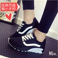 2015 Height Increasing Women Creepers Cheap Canvas Shoes Breathable Platform Shoes Flats X553 50