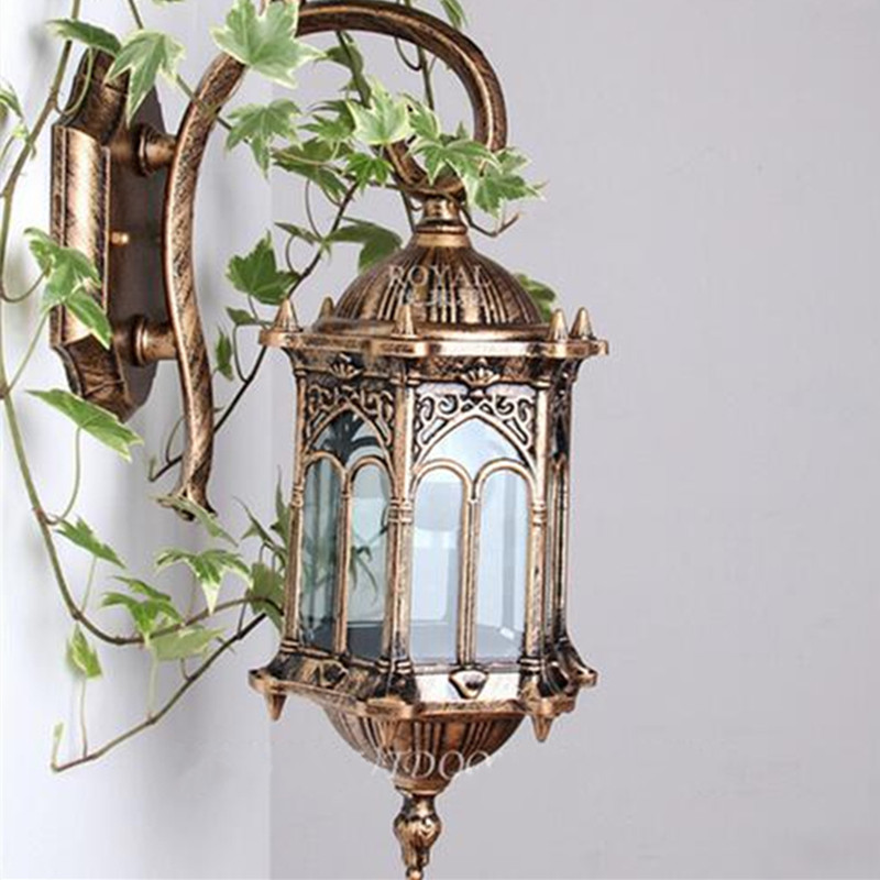 European antique E27 waterproof wall light sconce up down modern outdoor decoration outdoor path Patio porch lights Patio