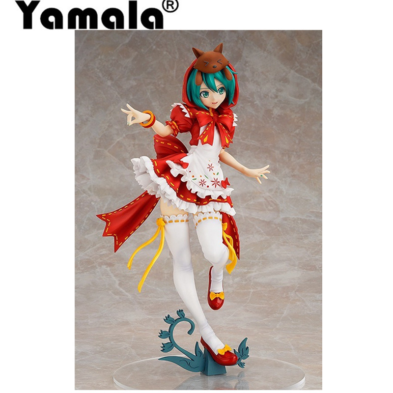 [Yamala] Hot Hatsune Miku Red Riding Hood Project DIVA 2nd PVC Action Figure Collectible Model Toy 23cm  base of the model фигурка planet of the apes action figure classic gorilla soldier 2 pack 18 см