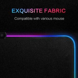 Image 4 - RGB HA CONDOTTO Il Mouse Pad Grande rilievo di mouse USB Wired Illuminazione Gaming Gamer Mousepad Tastiera Non slip Colorato Luminoso Per PC Mouse Zerbino