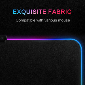 Image 4 - Tapis de souris antidérapant coloré avec éclairage filaire USB pour PC et PC, grand tapis de souris RGB LED pour clavier de jeu