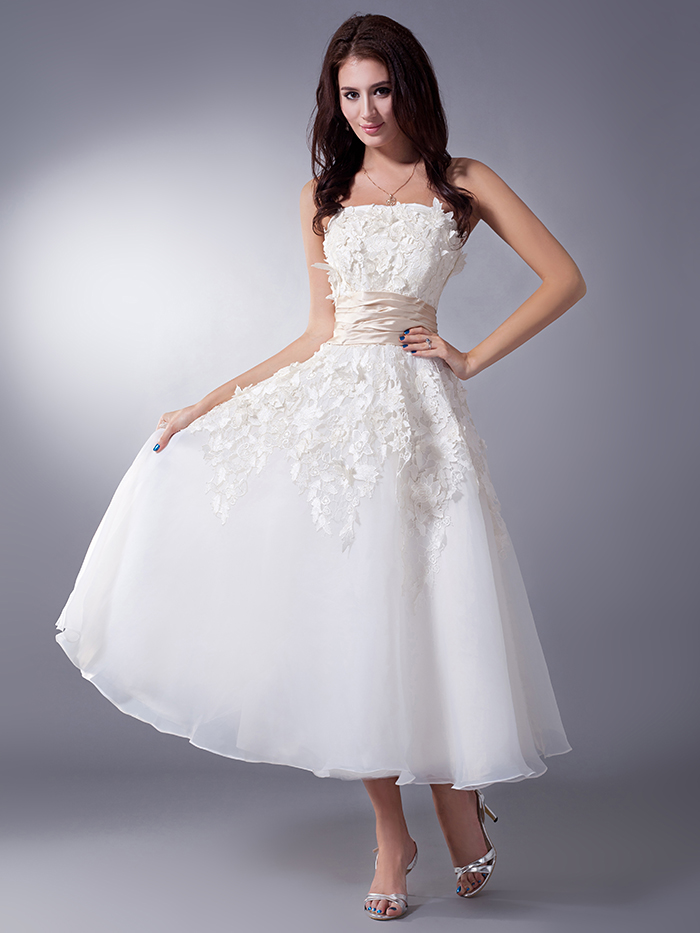 Popular wedding gown belt buy cheap wedding gown belt lots for Champagne tea length wedding dresses