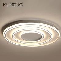 Modern Ceiling Lights LED Lamp For Living Room Bedroom Study Room White Surface Rings Ceiling Lamp Deco AC85 265V