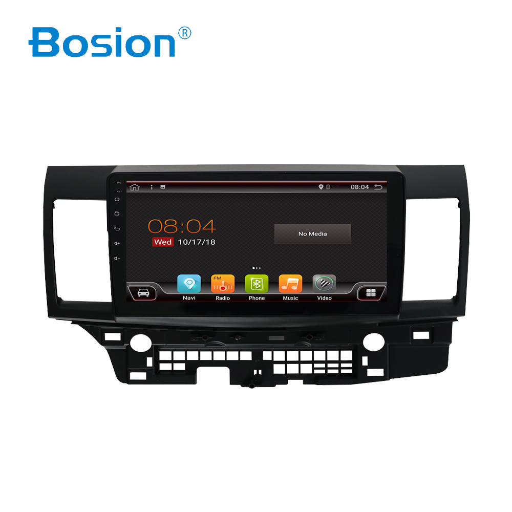 Bosion For mitsubishi lancer 2010-2016 Android 8/9 Autoradio Car Multimedia Player GPS Navigation Head Unit with wifi BT RDS USB