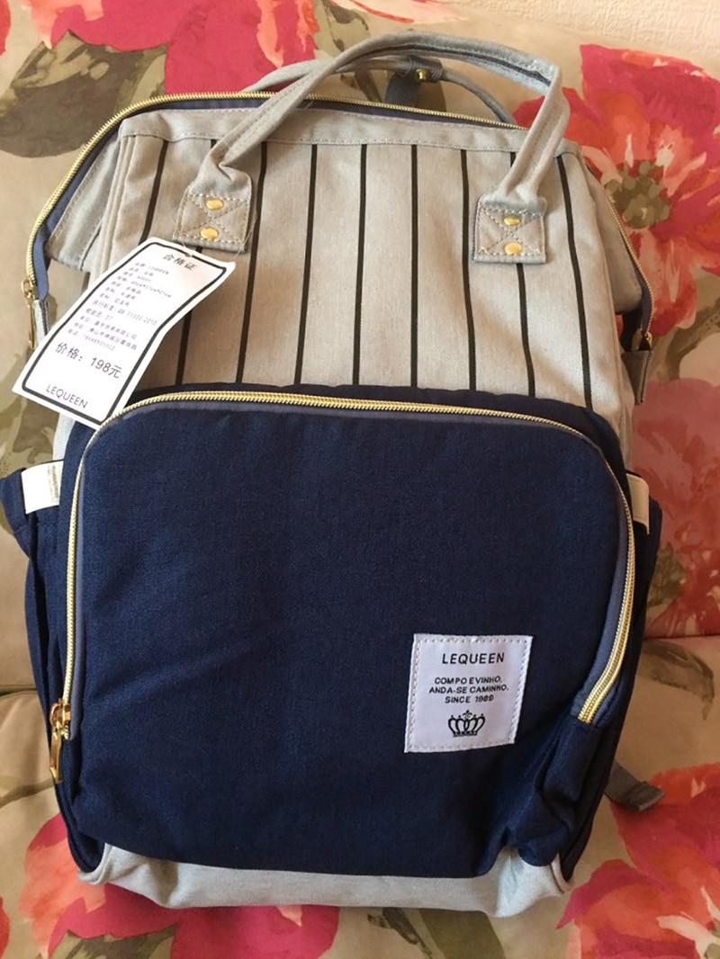 HTB1YeJXXoLrK1Rjy0Fjq6zYXFXau Fashion Mummy Striped Maternity Nappy Bag Large Capacity Baby Bag Bolsa Maternidade Designer Nursing Bag For Mother Baby Diaper