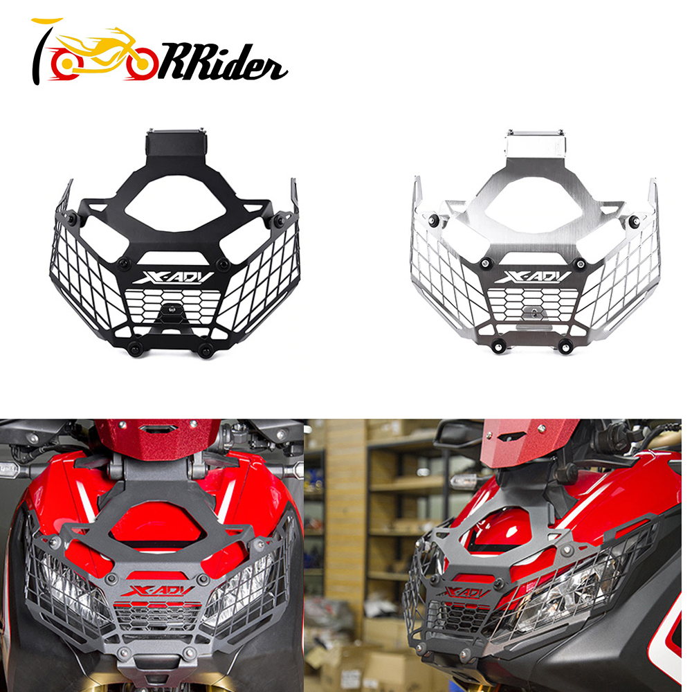 XADV750 Motorcycle Headlight Guard Cover Stainless Steel Mesh Grill Protector For 2017 2019 Honda X ADV
