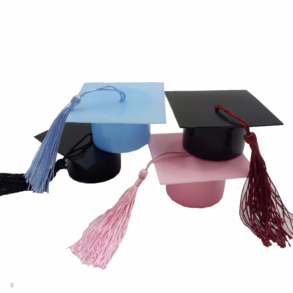 European Plastic Graduation Cap Candy Boxes Creative