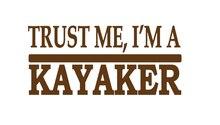 New Trust Me Kayaker Lettering Art Sticker For Car Window Bumper Door Vinyl Decal Kayak Kayaking Canoe Life Jacket Adventure