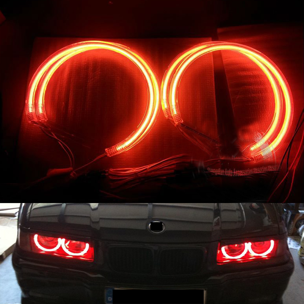 4pcs/lot White Blue Green Orange Yellow Car CCFL Halo Rings Angel Eyes Headlights for BMW E39 OEM Ccfl Ring Light Kits купить