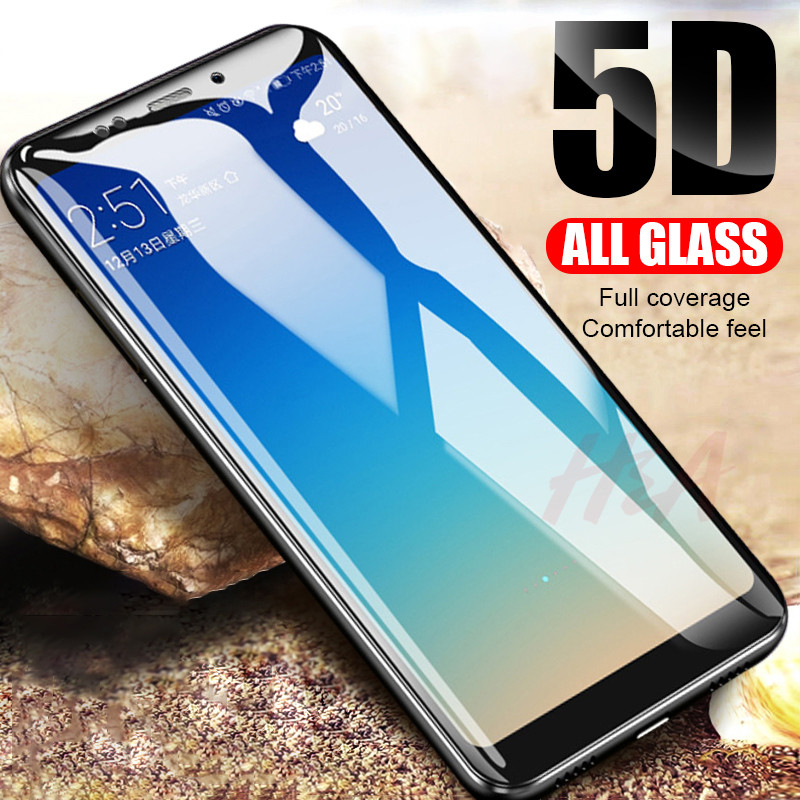 5D Cover Tempered Glass For Xiaomi A2 Pocophone F1 Protective Glass For Xiaomi Redmi 4X 5 Plus Note 5 5A 6 Pro 6A Glass Film