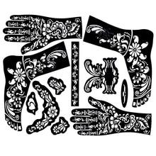 Живописи, индийская шаблонов менди хна трафареты хной татуировка трафарет краска рук