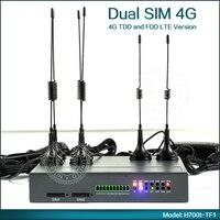 תעשייתי 192.168.8.1 נתב אלחוטי הכפול 4G כרטיס ה SIM WiFi נתב תמיכת VPN  SNMP  DDNS  DHCP  NAT/NAPT עבור M2M יישום-בתמסורת וכבלים מתוך אבטחה והגנה באתר