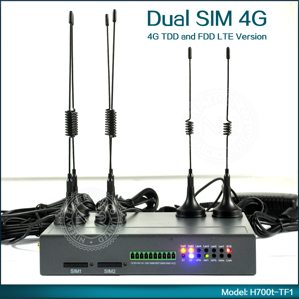 Industrial 192.168.8.1 Wireless Router Dual 4G SIM Card WiFi Router Support VPN, SNMP, DDNS, DHCP, NAT/NAPT For M2M Application