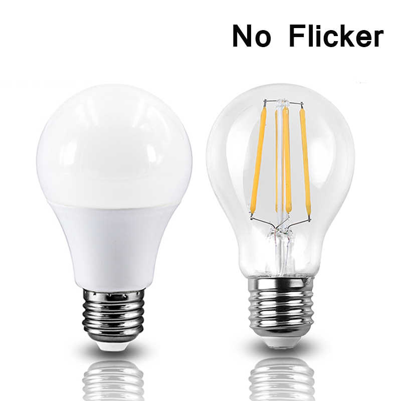 220V No Flicker LED lamp LED light E27 220V 230V LED bulb E27 4W 5W 6W 7W 8W 9W 12W 15W 18W Lampada Warm White Lamp Table lamp