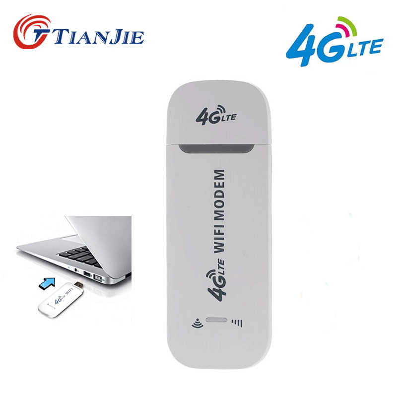 TIANJIE 3G 4G Wifi modem 100Mbps Unlocked/Universal/Portable USB Modem Dongle 4G Wireless Network Stick Car hotspot router SIM