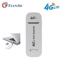 TIANJIE 3g 4G Wifi модем 100 Мбит/с разблокированный/Универсальный/портативный usb модем, usb модем 4G беспроводной сетевой палка автомобильный роутер SIM