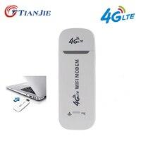 TIANJIE 3G 4G Wifi модем 100 Мбит/с разблокированный/Универсальный/портативный USB модем ключ 4G беспроводная сетевая палка автомобильный hotspot роутер ...