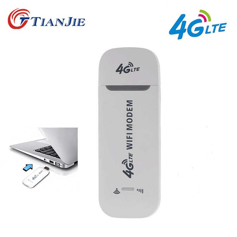 TIANJIE 3G/4G tarjeta SIM Wifi módem USB Router Dongle inalámbrico 4G lte dongle wifi para coche Hotspot adaptador de red router wifi