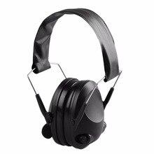 Anti-Noise Earmuffs Ear Protector Impact Electronic Earmuff Fold Ear Hearing Earmuffs Outdoor Hunting Shooting Ear Muffs 21SNR