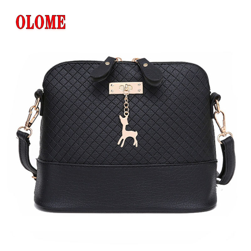 HOT SALE 2019 Women Messenger Bags Fashion Mini Bag With Deer Toy Shell Shape Bag Women Shoulder Bags handbag in Shoulder Bags from Luggage Bags