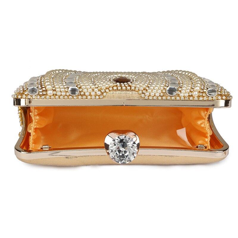 beaded tassel evening bolsa party Handbag Color : Golden Like Pic Shows