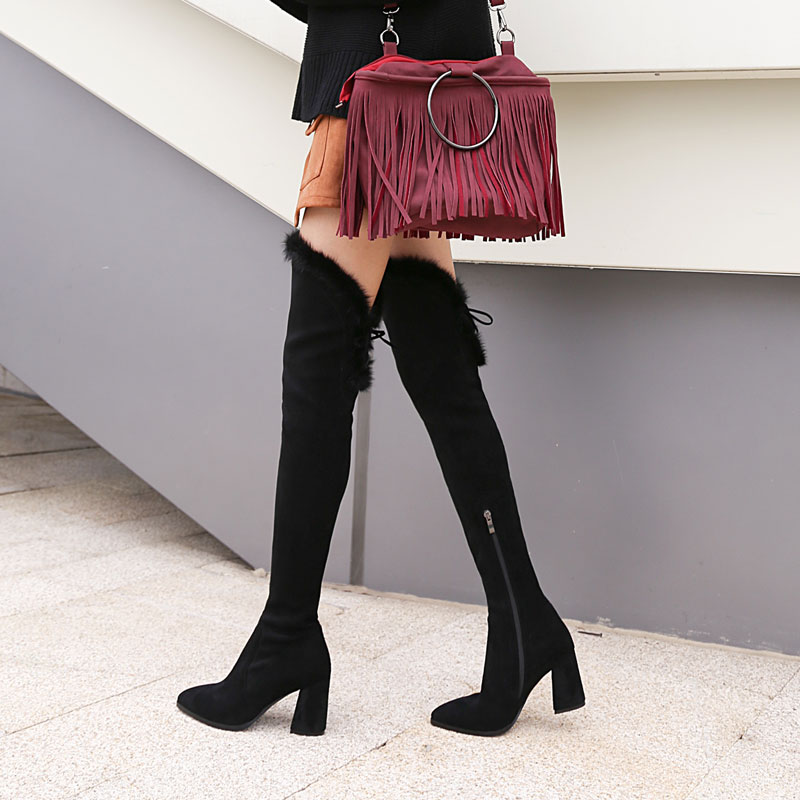 womens black winter boots thigh high boots women over the knee boots crotch high boots botas bottine botte femme laarzen botines marc ecko womens the said mid rhinestones accented black