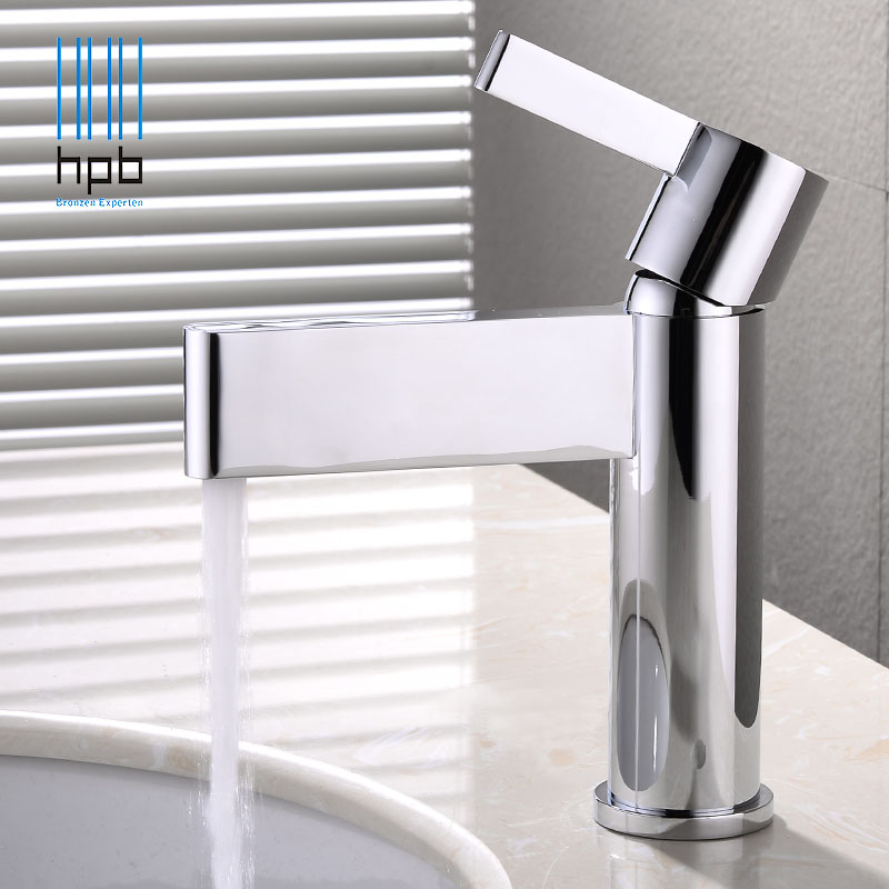HPB Nice Design Brass Bathroom Faucet Basin Hot and Cold Water Mixer Taps Single Hole torneira do banheiro robinet Chrome HP3043 hpb pull out bathroom faucet brass sink basin mixer tap cold hot water chrome single hole handle fashion design quality hp3030