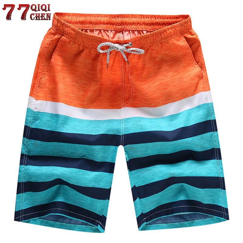 Men Summer Beach Shorts Thin Breathable Quick Dry Numbers Trees Print Short Pants Board Shorts mx8