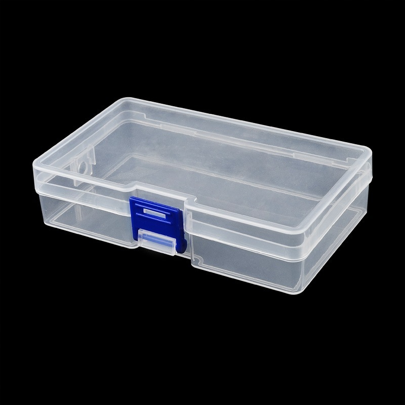 Nails Art & Tools 1pc 14.5x8.5x3.5cm Clear Rectangle Plastic Nail Art Tool Box Storage Boxes For Rhinestone Studs Decorations Brushes Buffer Files