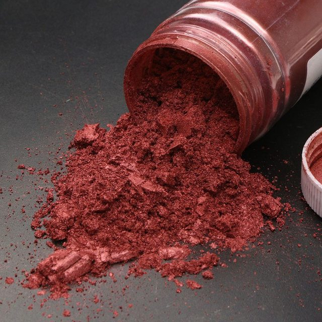 best price 100g wine red ultrafine glitter pearl pigment powder