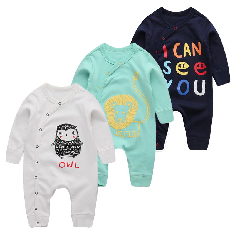 Newborn Baby Cotton Clothes Cartoon Cute Boys   Rompers   Infant Animal Costume Girls Pink Boutique Clothes New Born Baby Clothes